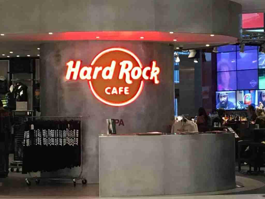 The Hard Rock Cafe at Tampa International Airport.