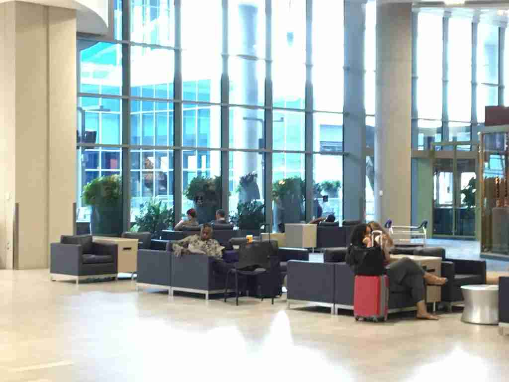 A seating area at Tampa International Airport. Photo by Benét J. Wilson / The Points Guy