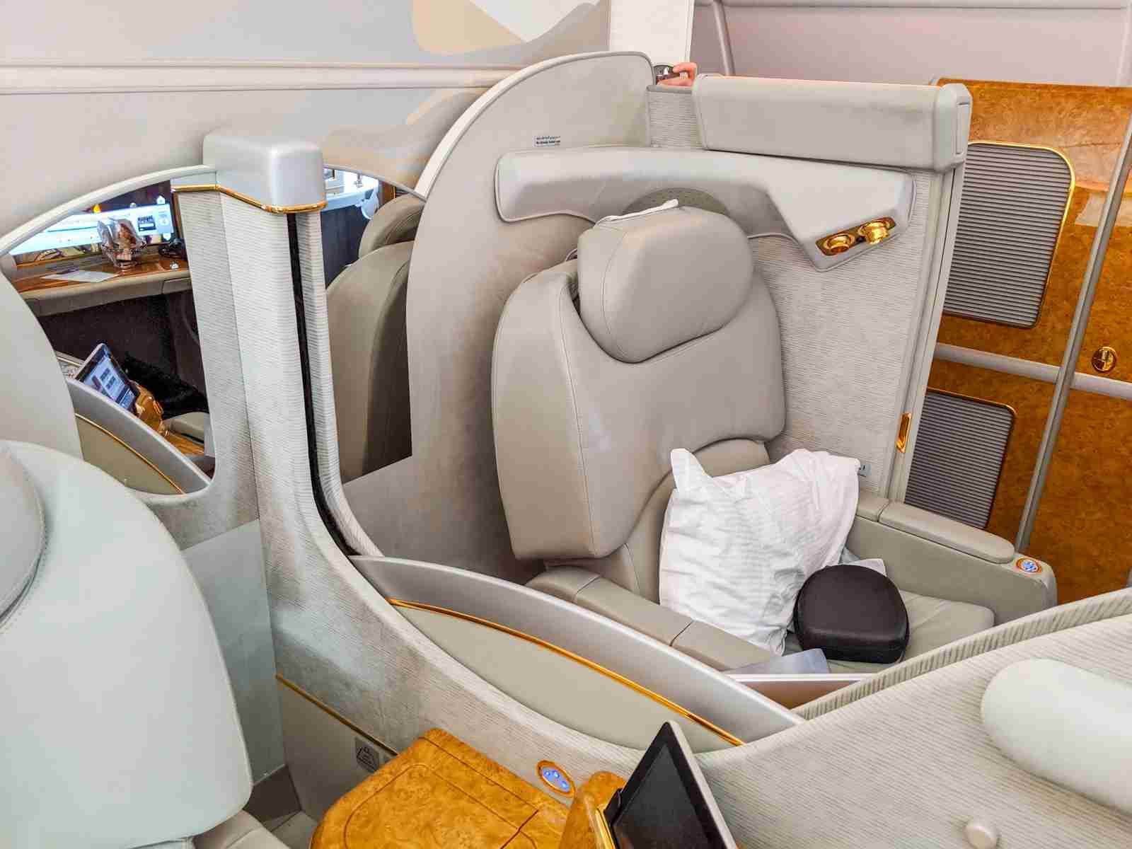Emirates First Class A380 (Photo by JT Genter/The Points Guy)