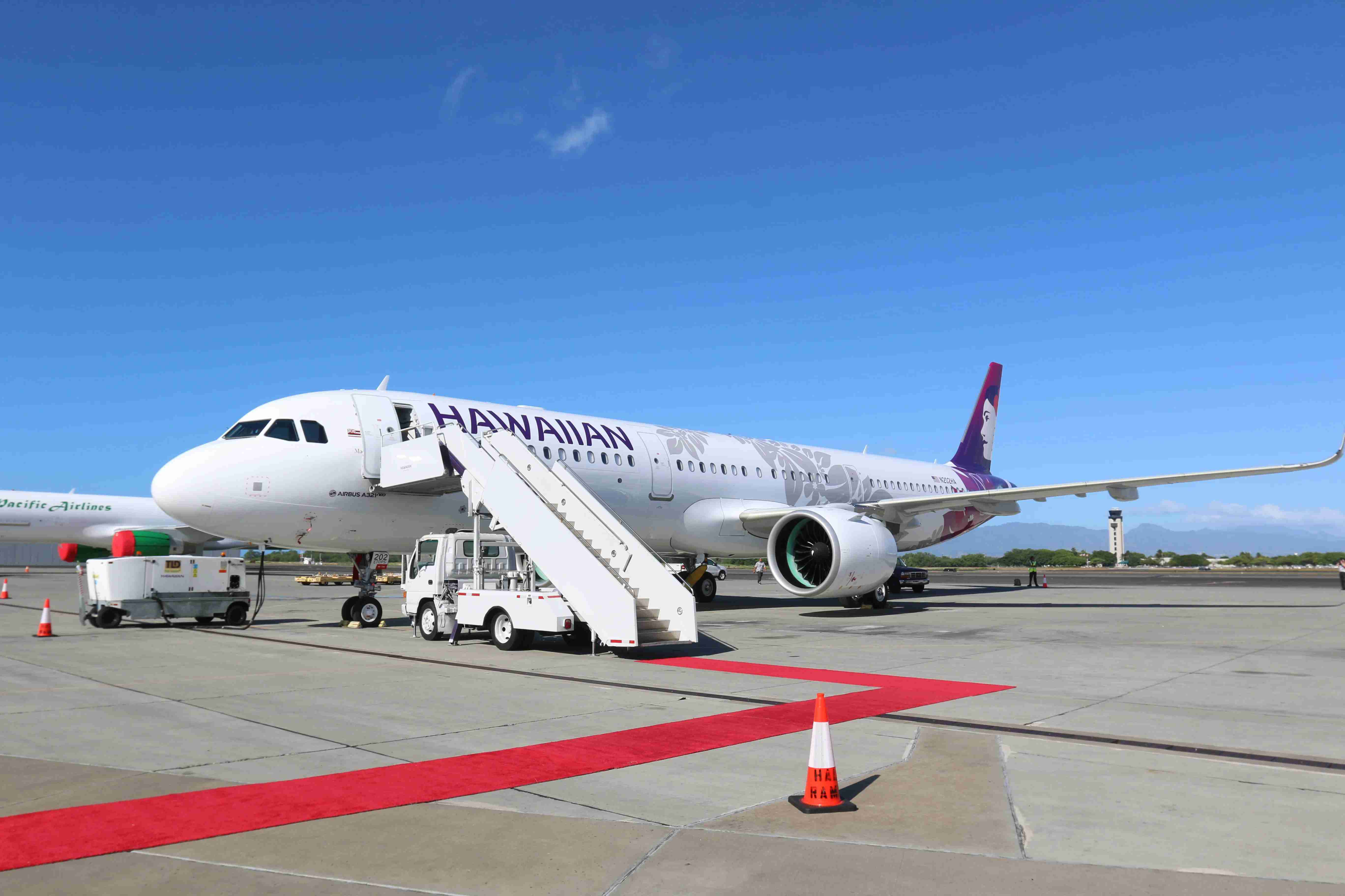 A Hawaiian Airlines Airbus A321neo.
