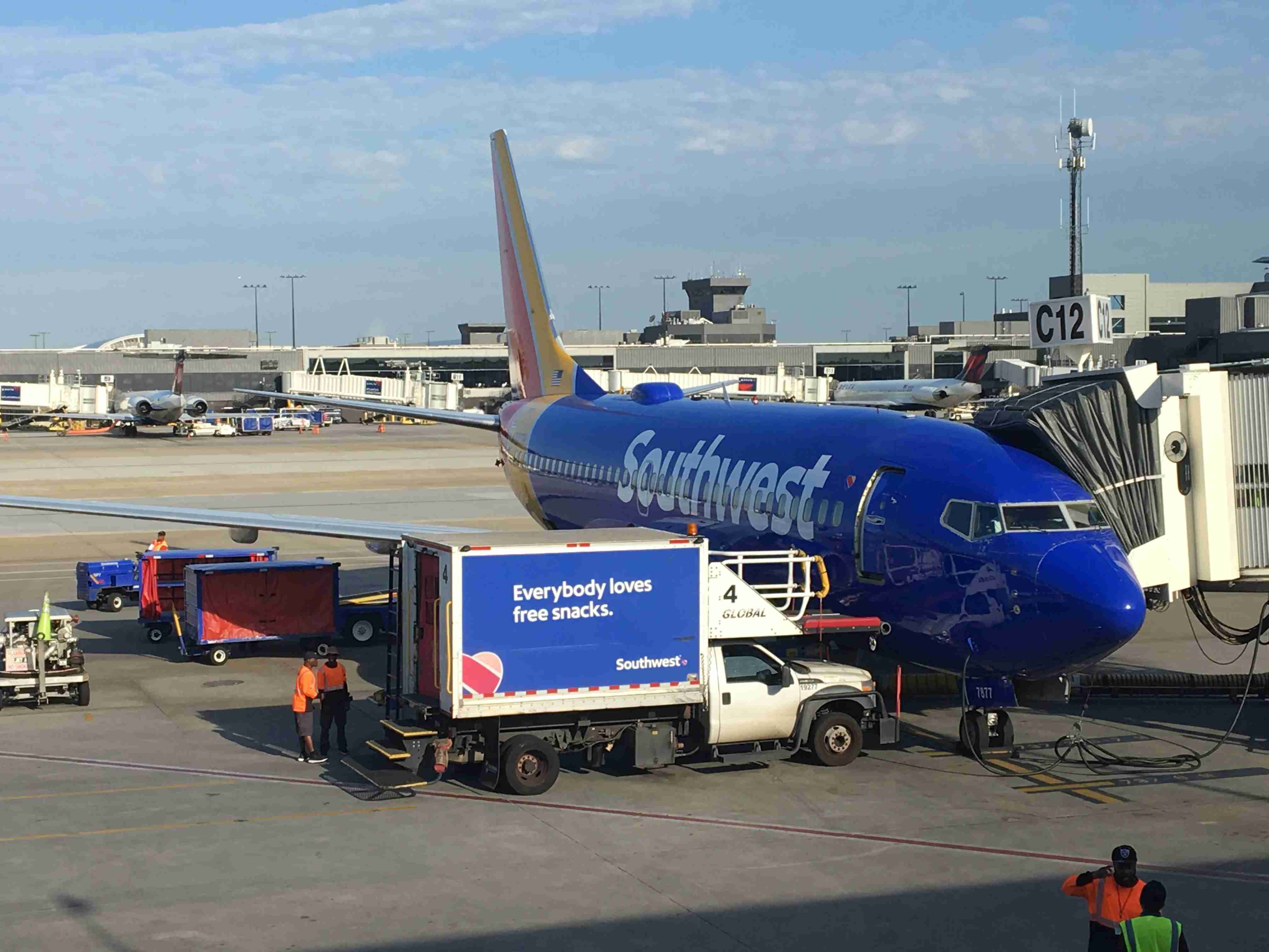 A Southwest Airlines Boeing 737 parked at BWI Airport. (Photo by Benét J. Wilson / The Points Guy)