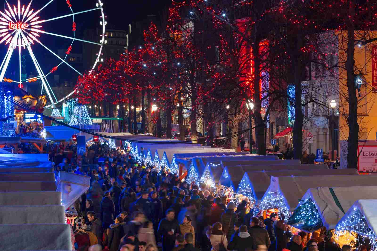 Christmas Market in Place Sainte Catherine in Brussels. (Photo by Jon Hicks/Getty Images)