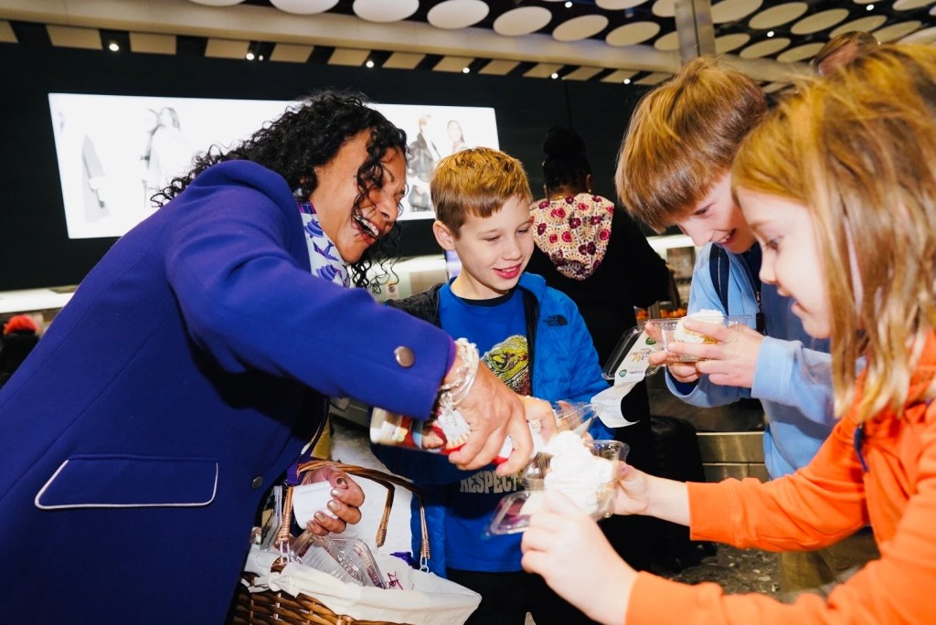 Some U.S. flyers arriving to London Heathrow were surprised at baggage claim with Thanksgiving-themed pumpkin pies on Wednesday, Nov. 27, 2019. The U.S. holiday is on Thursday. (Photo courtesy of Heathrow Airport)