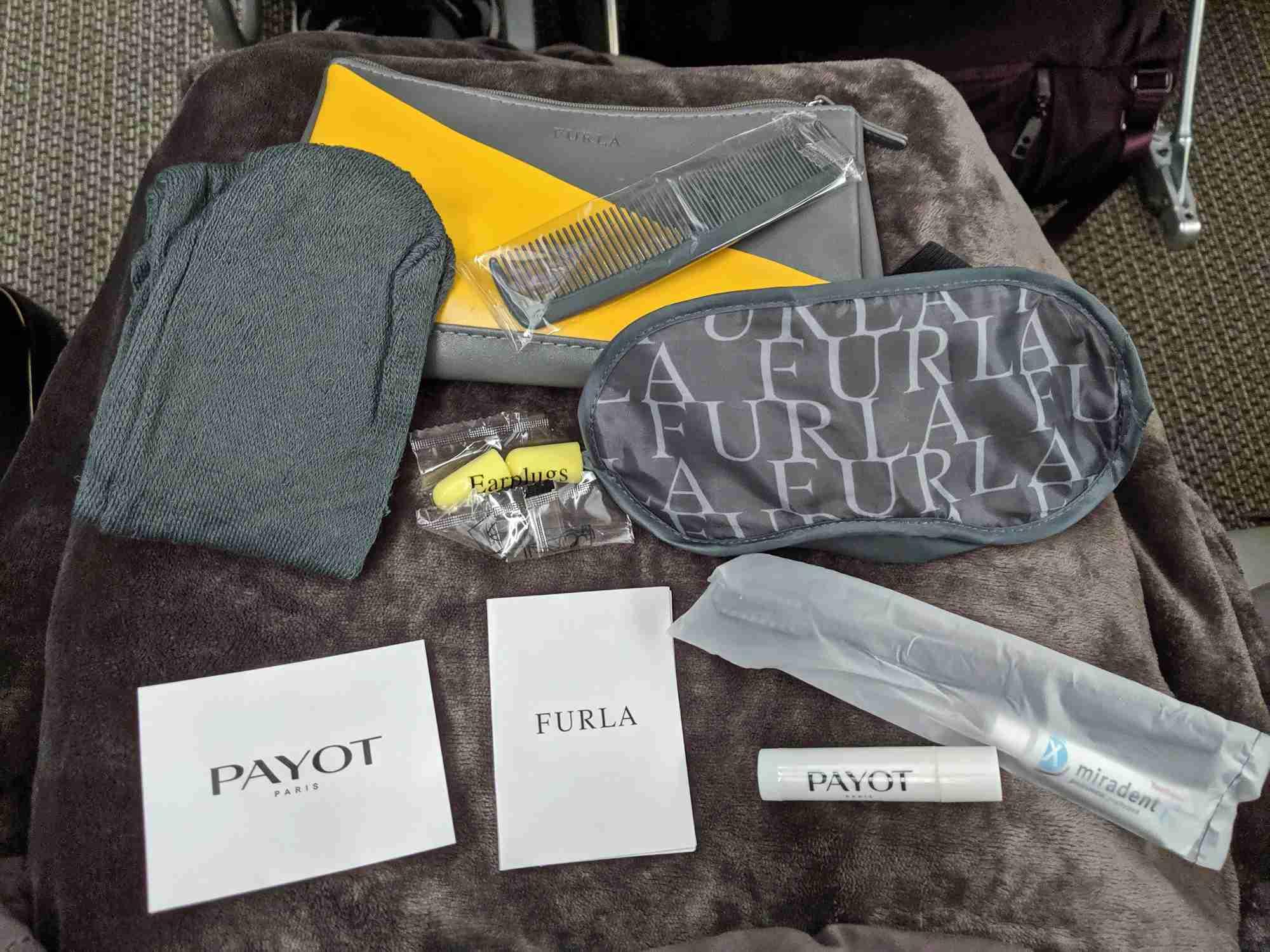EVA Air premium economy amenity kit. Photo by Katherine Fan/The Points Guy