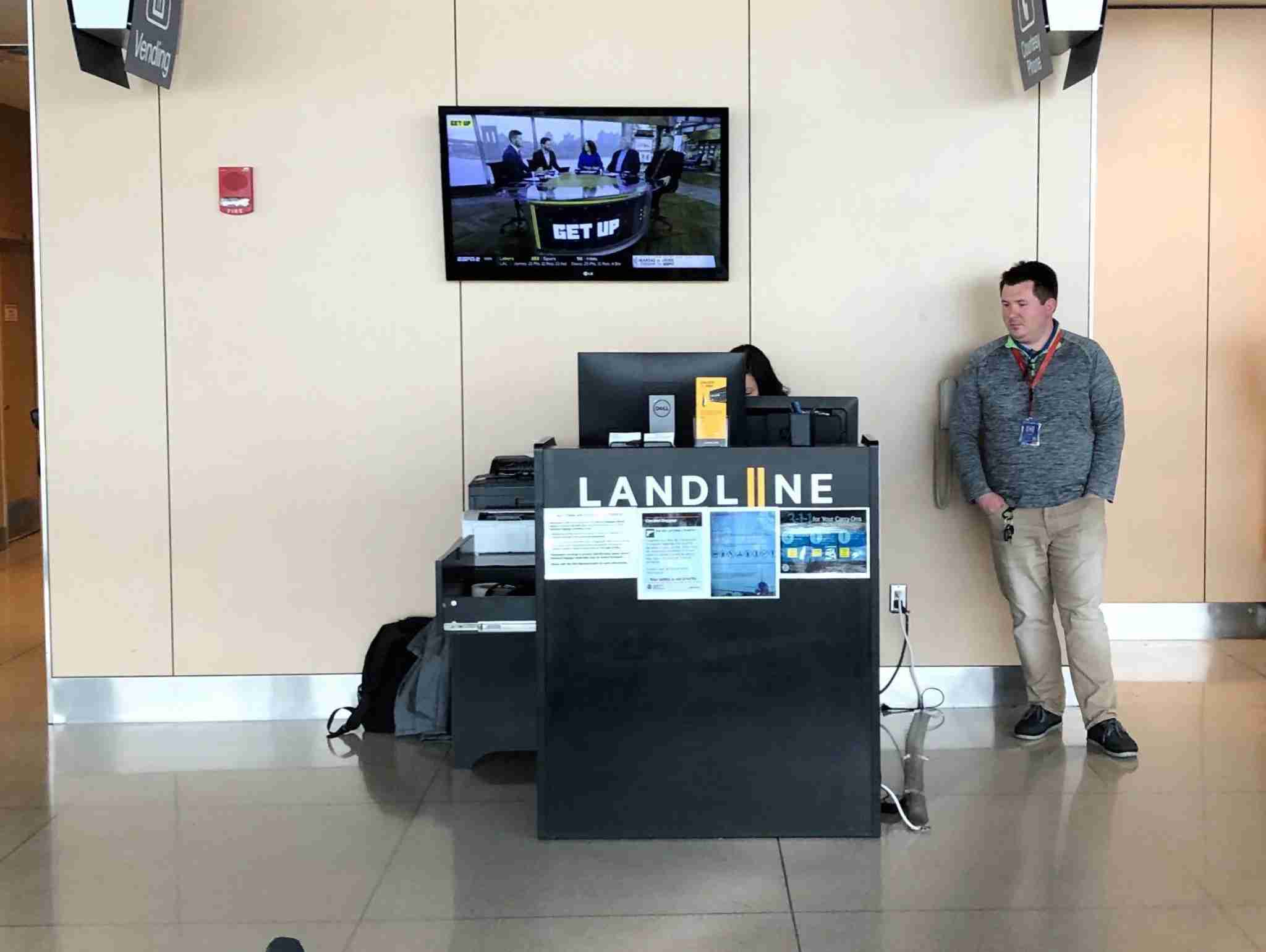 Landline checks travelers in at its counter at Duluth as if they are are airline passengers, issuing boarding passes for their entire trip and allowing them to check bags through to their final destination. (Image by Edward Russell/TPG)