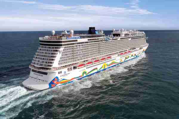 Norwegian Cruise Line's 3,998-passenger Norwegian Encore. (Photo courtesy of Norwegian Cruise Line)