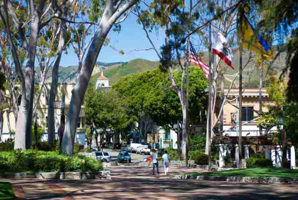 Mission Plaza area of San Luis Obispo. (Photo by Ann Cecil/Getty Images)