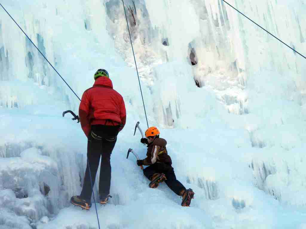 The Kids Climbing Park in Ouray, CO is a good place for little ones to put their ice pick skills to work on a wall just for them (Ouray Tourism Office)
