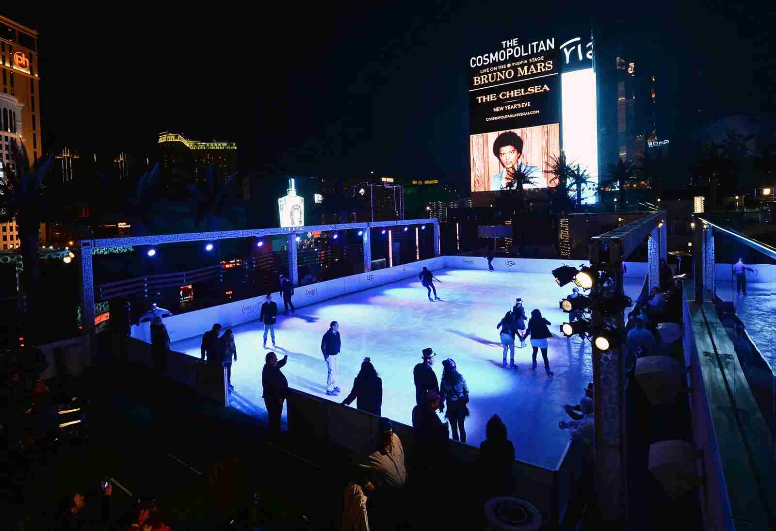 The Ice Rink at the Cosmopolitan Hotel in Las Vegas. (Photo by Ethan Miller/WireImage/Getty Images)