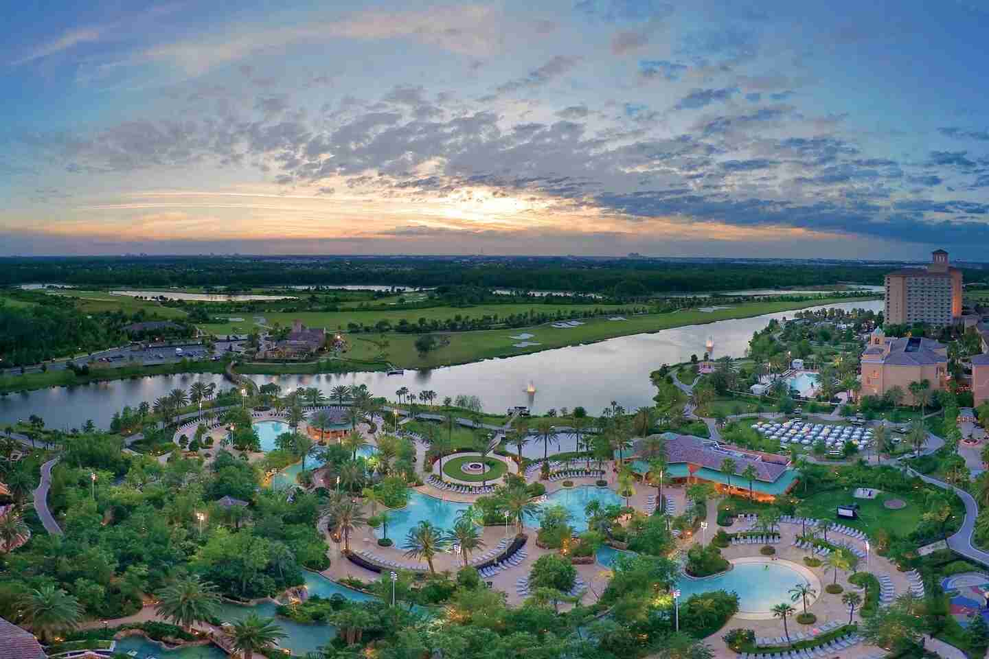 Carve out some time to enjoy the lazy river and pool at the JW Marriott Grande Lakes Orlando. (Photo courtesy of the hotel)