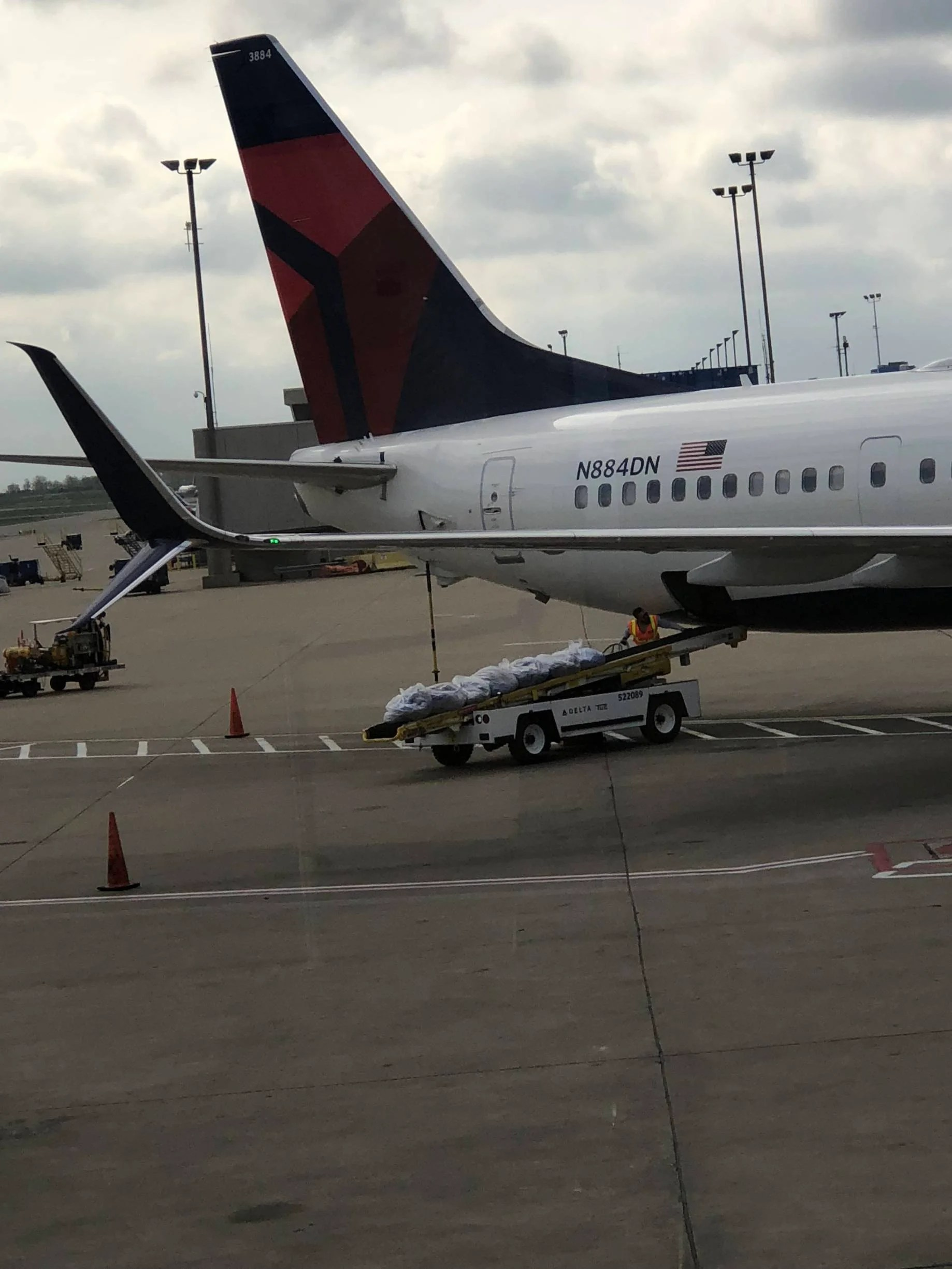 A tail stand in action on a Delta 737-900. Image from Reddit used with permission.