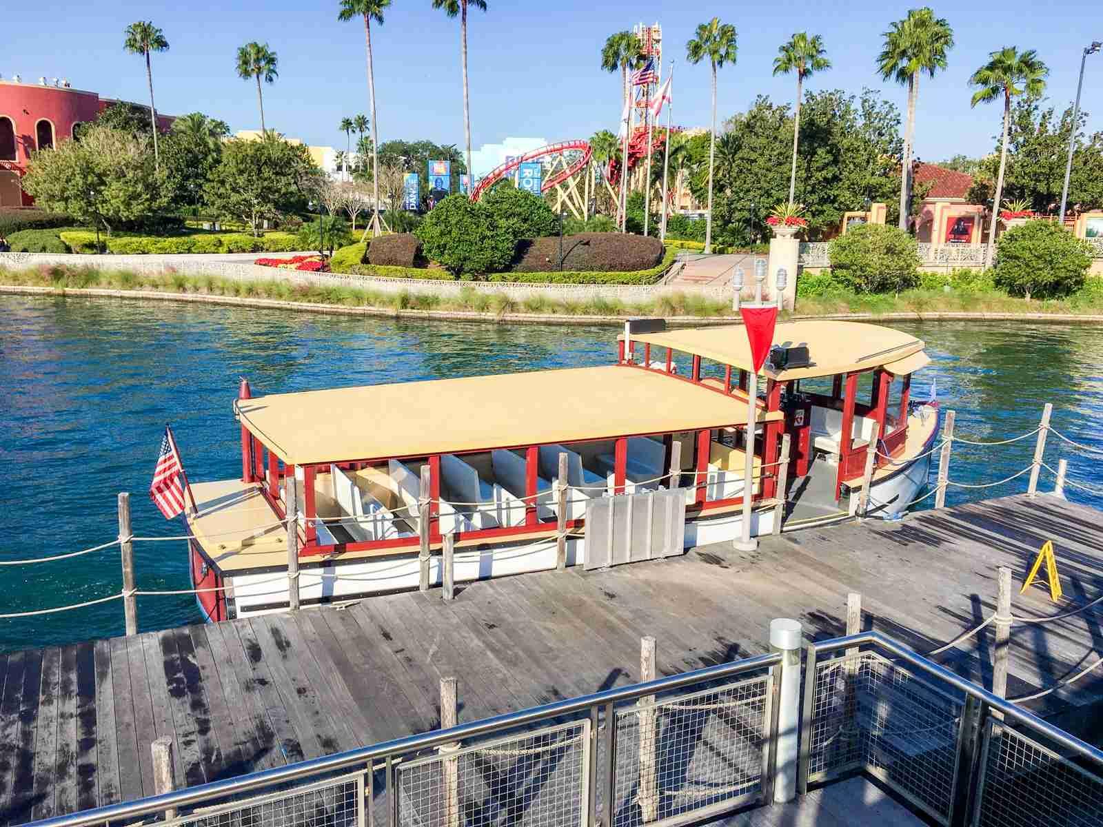 Boat shuttle at Universal Orlando