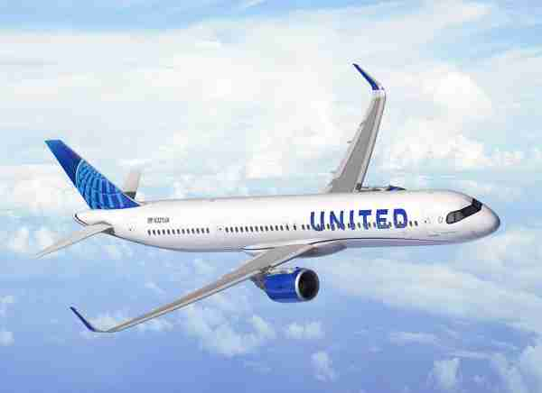 A rendering of United Airlines new Airbus A321XLR. (Photo courtesy of Airbus)