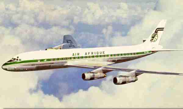 An Air Afrique DC-8.