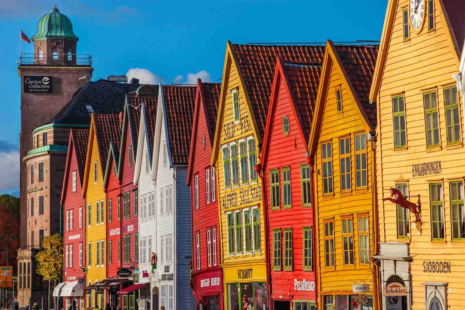 Houses in the old pier in Bryggen, Bergen. (Photo by Gonzalo Azumendi/Getty Images)