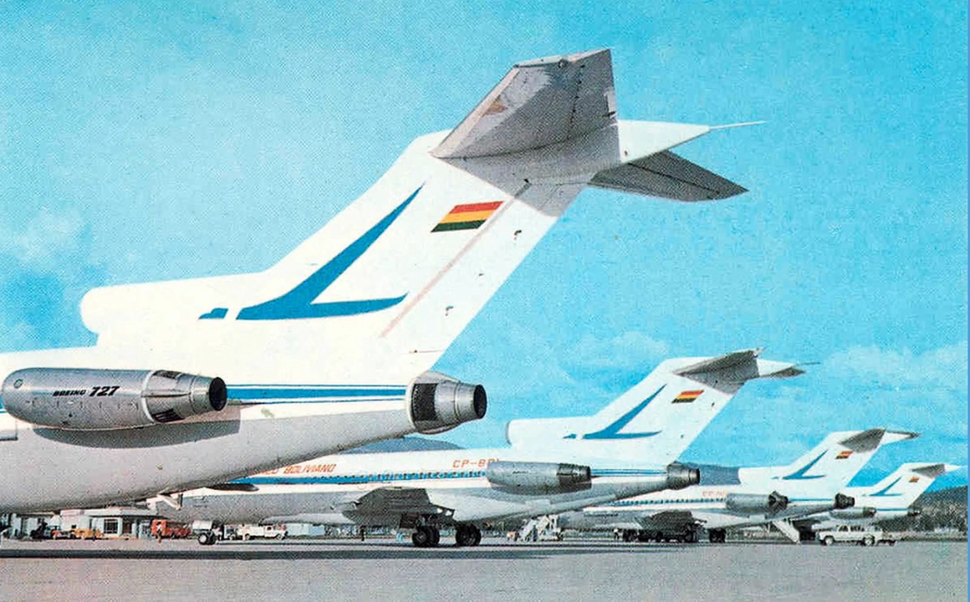 727s of Lloyd Aereo Boliviano (LAB), one of South America's earliest airlines.
