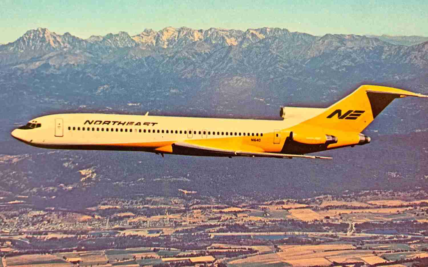 Northeast was the launch customer of the Boeing 727-200.