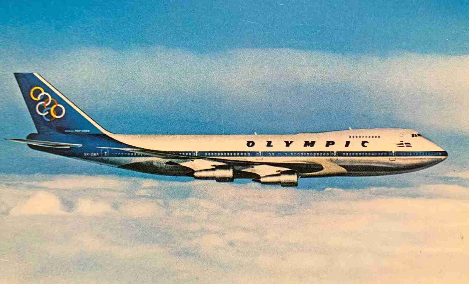 Now that's just gorgeous. An Olympic 747-200
