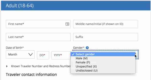 United customers can update online profiles with these gender designations