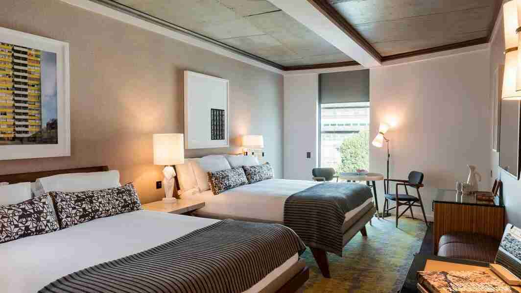 Bankside Generous Guest Room with two queen beds. (Photo courtesy of Marriott.)