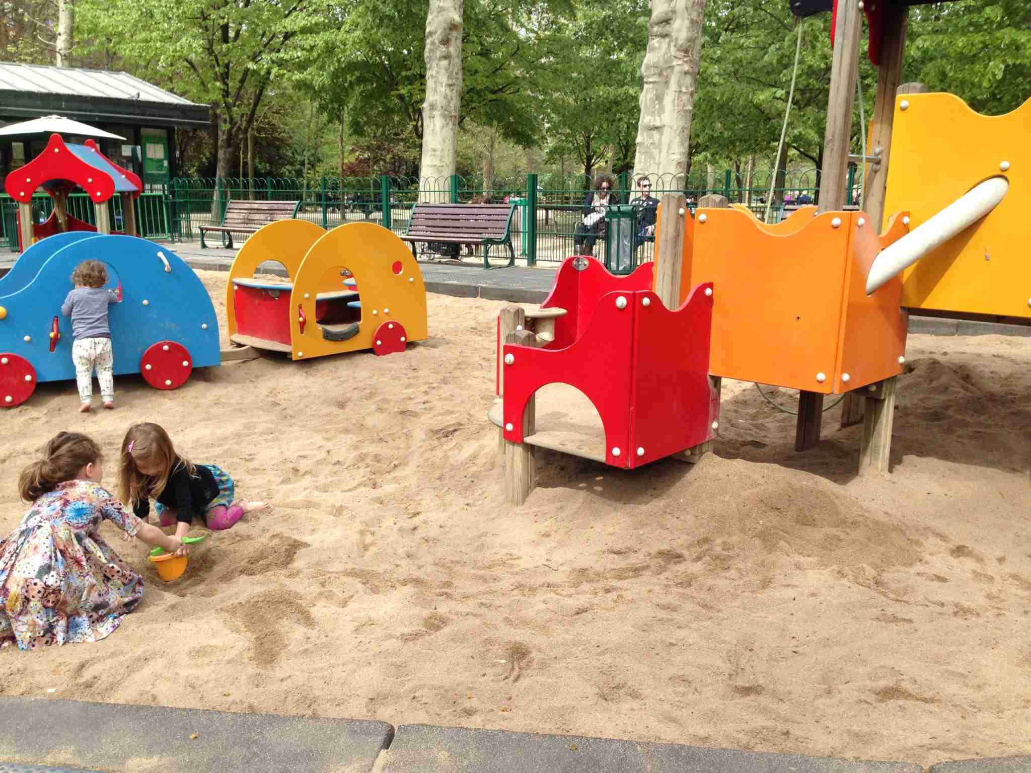 My first daughter playing with kids in a park in Paris (Summer Hull/The Points Guy)