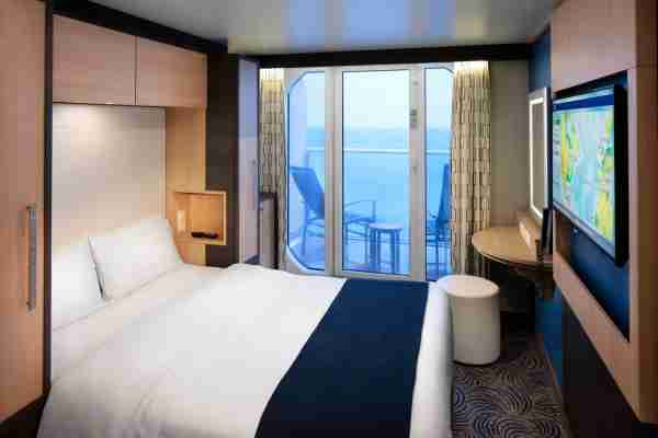 """Royal Caribbean offers """"studio"""" cabins for one on some ships that come with an ocean view. Photo courtesy of Royal Caribbean."""