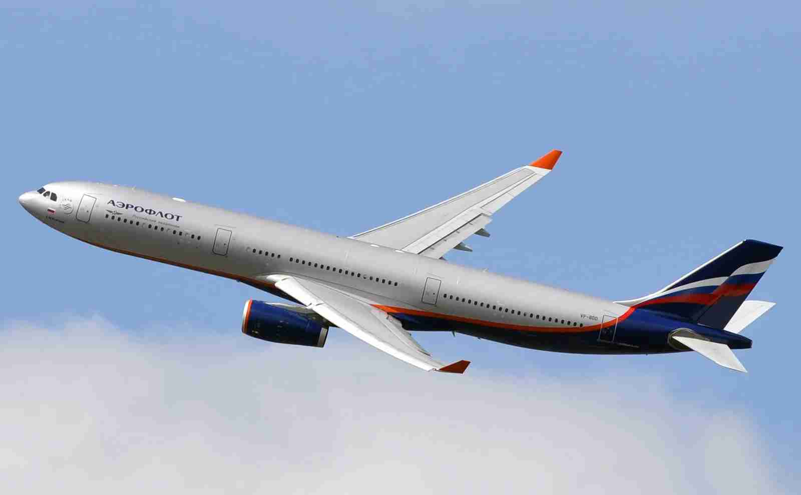 An Aeroflot A330 taking off from JFK airport in New York in 2015 (Photo by Alberto Riva/The Points Guy)