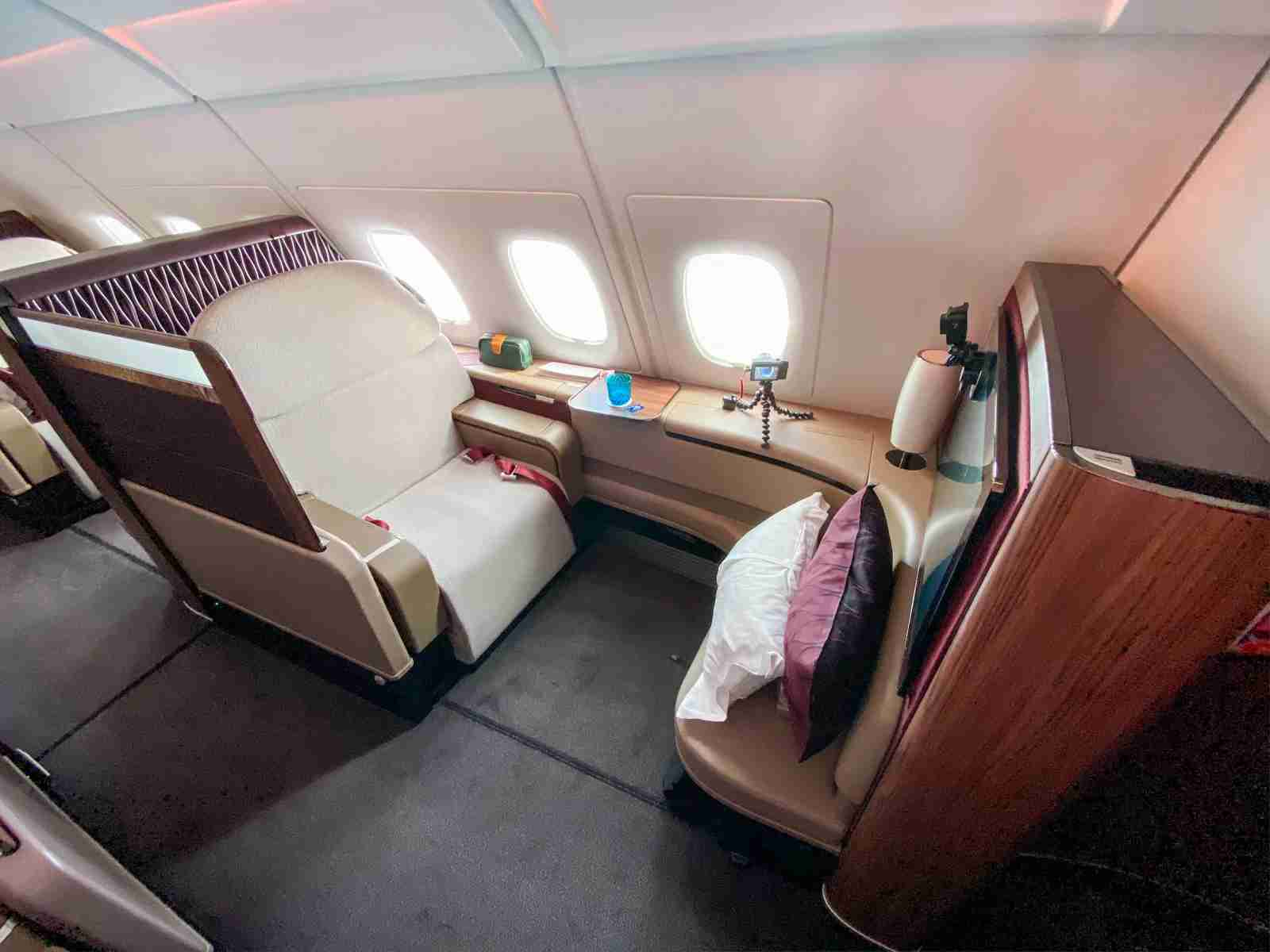 Qatar first class (Photo by Liam Spencer/The Points Guy)