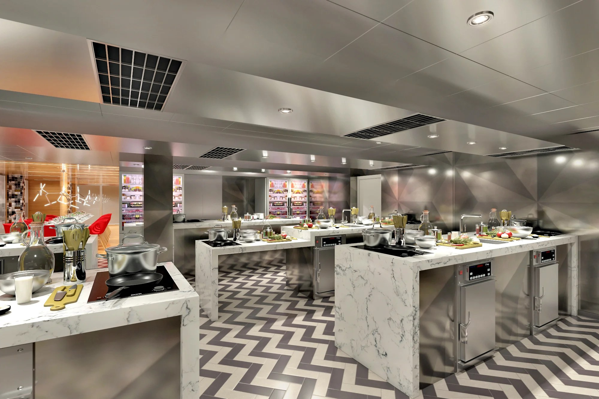 Inside the tricked-out cooking classroom on Carnival's new ship