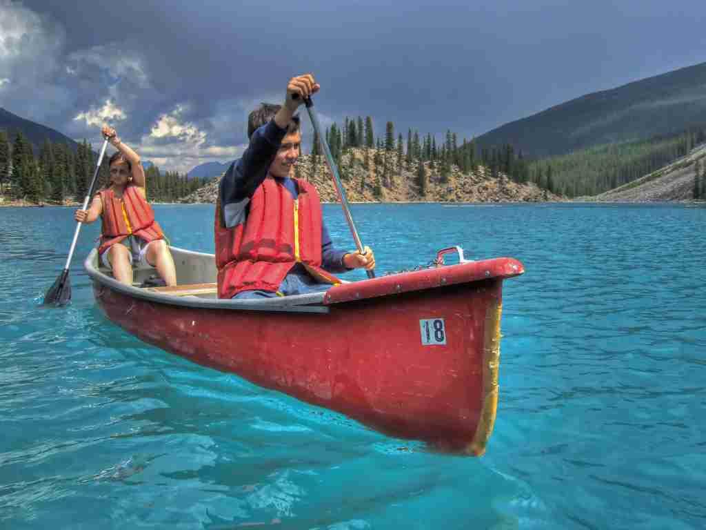 canoe Lake Moraine in Banff National Park