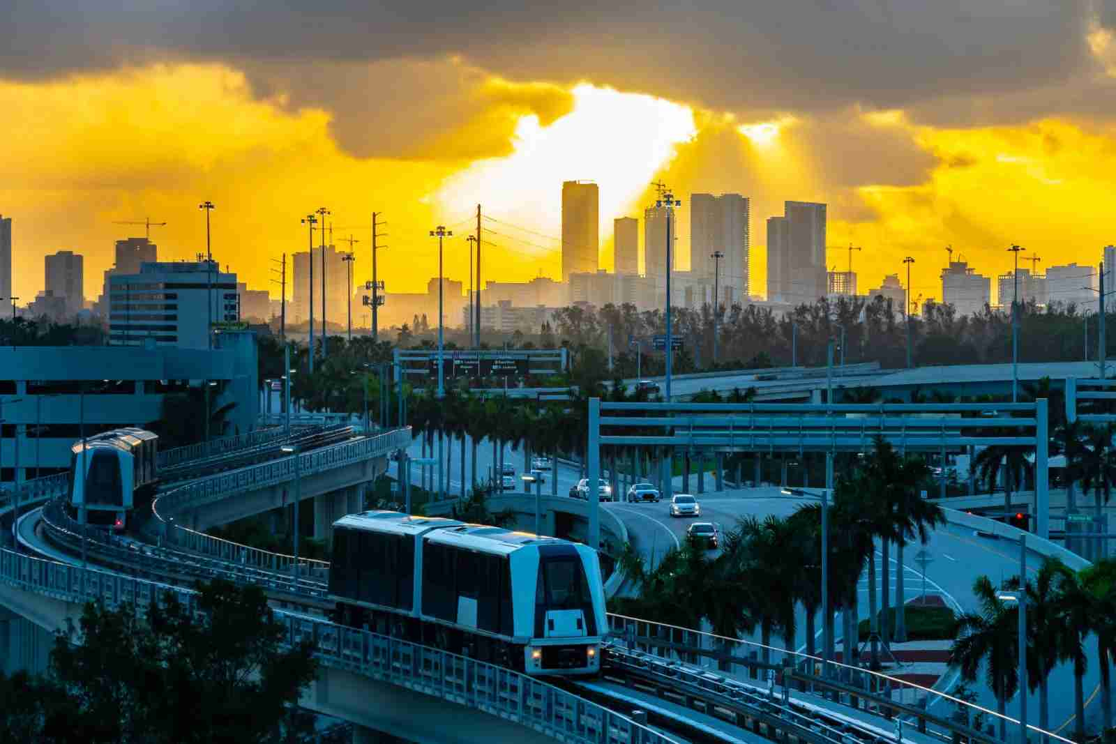 MIA Mover, an automated people mover system that transports passengers at Miami International Airport. (Photo by Debbie Ann Powerll/Getty Images)