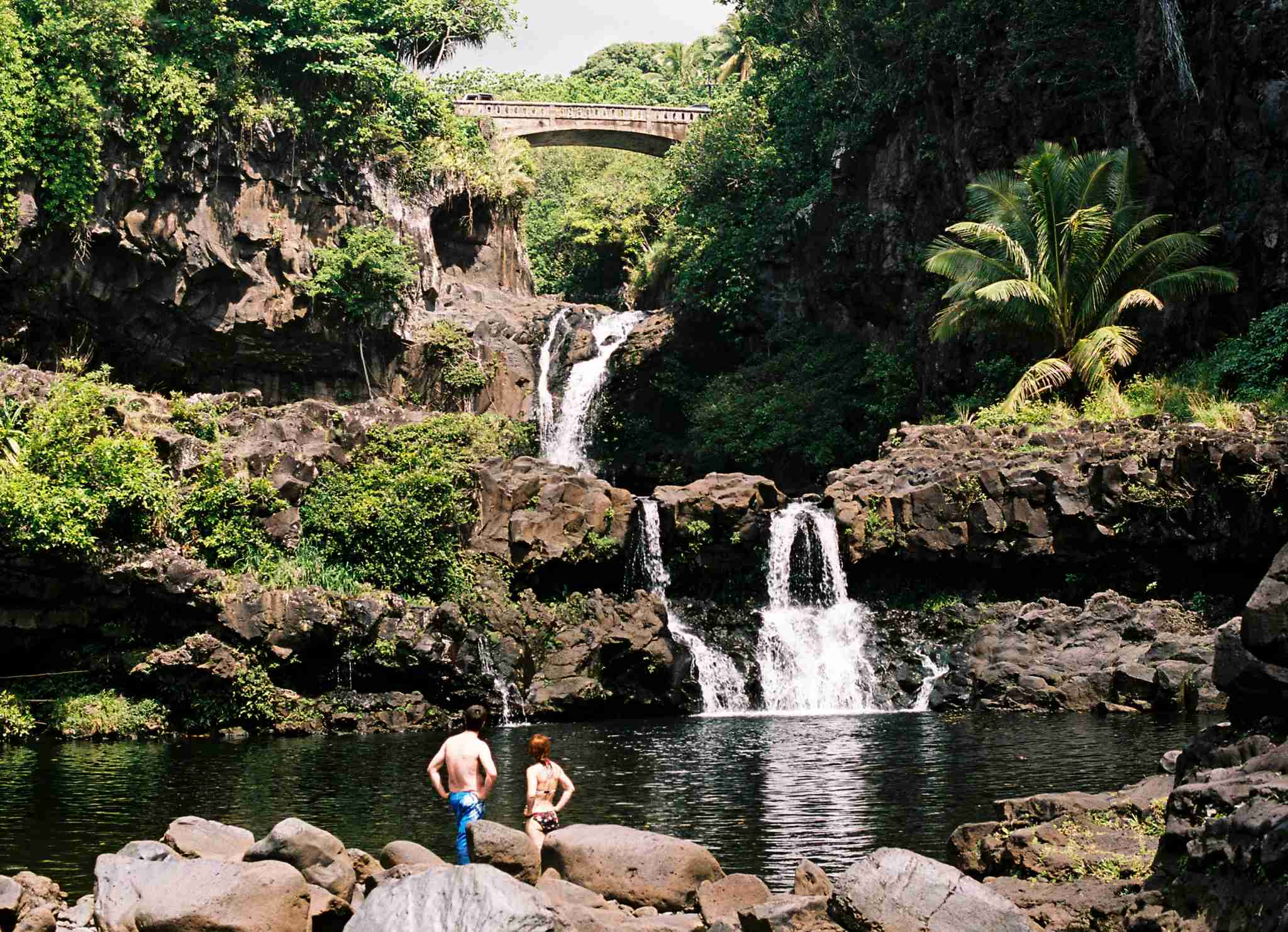 Just one of the waterfalls youll encounter along Mauis Road to Hana. Photo by ejs9/The Points Guy)