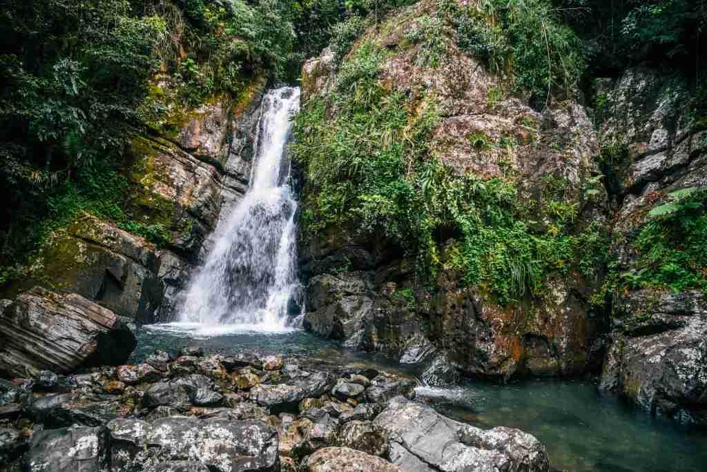 La Mina Falls in El Yunque National Forest,