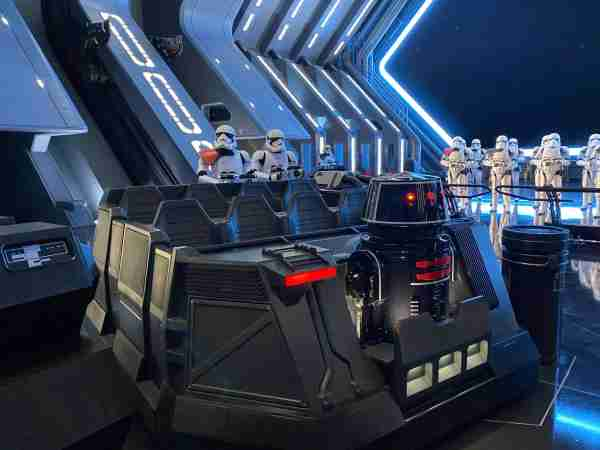 Captured by the First Order on Star Wars: Rise of the Resistance at Disneyland. (Image by Leslie Harvey)