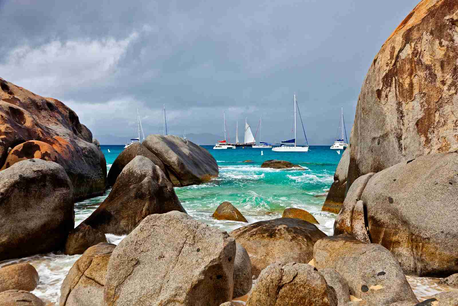 The Baths at the southern end of Virgin Gorda. (Photo by Danita Delimont/Getty Images)