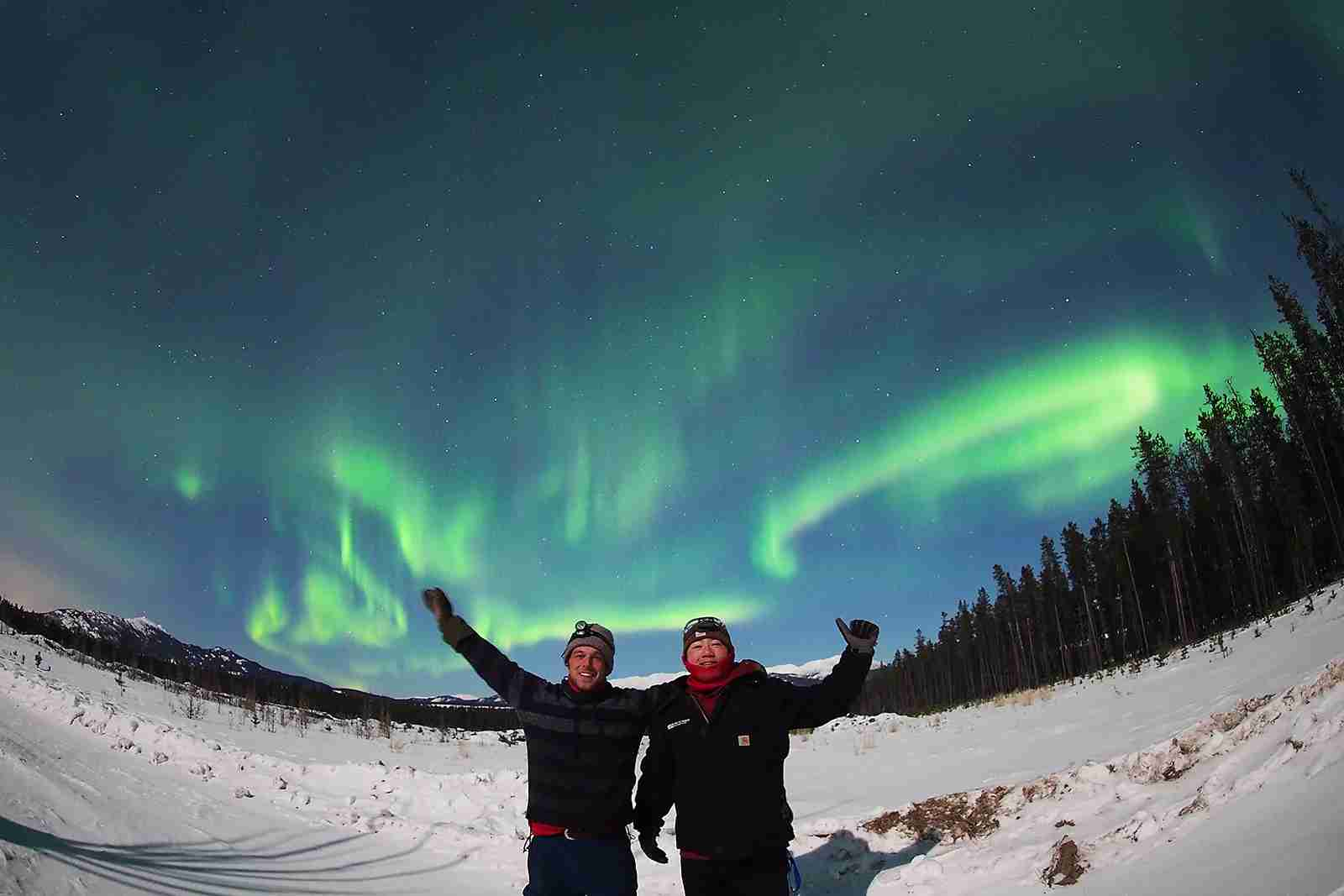The northern lights in Canada. (Photo courtesy of Destination Canada)