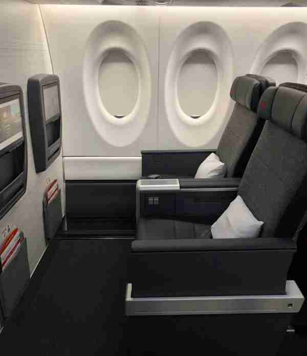 Business class on Air Canada