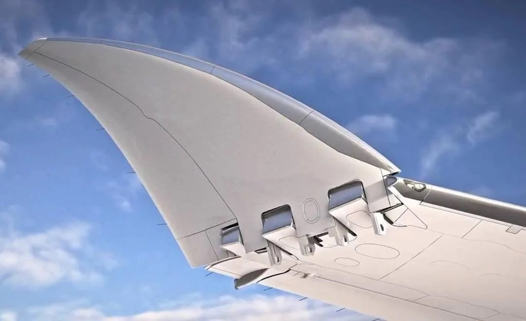 Boeing 777X folding wingtip. Image via Boeing.