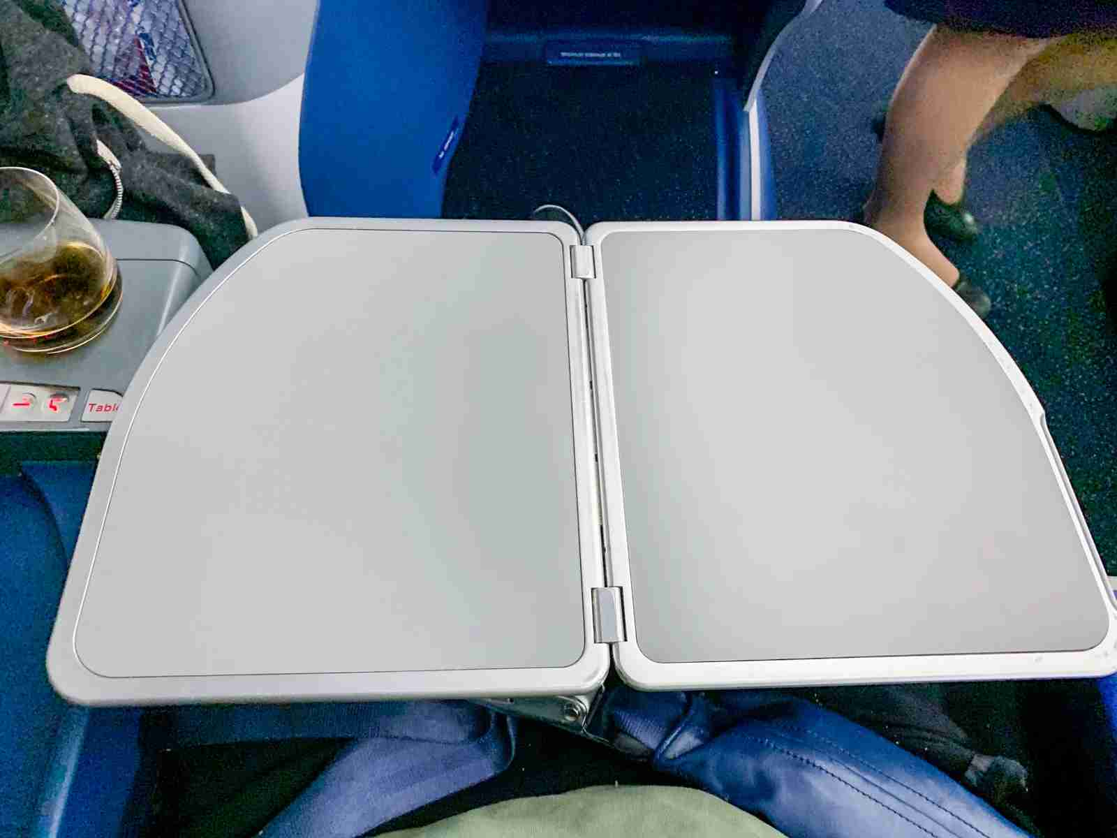 Tray table on the Delta 767-300ER.
