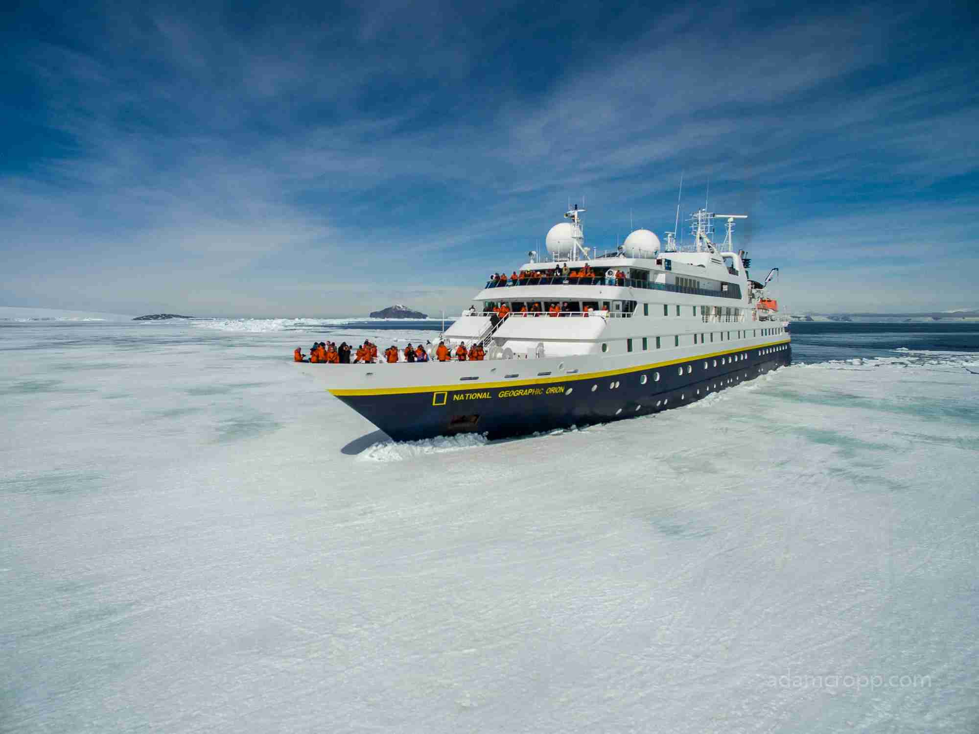 Lindblad Expeditions is known for hardy, expedition-style vessels that can travel deep in polar regions. Photo courtesy of Lindblad Expeditions.