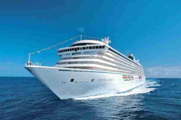 The 980-passenger Crystal Serenity will visit the Maldives in 2022 as part of an around-the-world voyage from Miami. (Photo courtesy of Crystal Cruises)