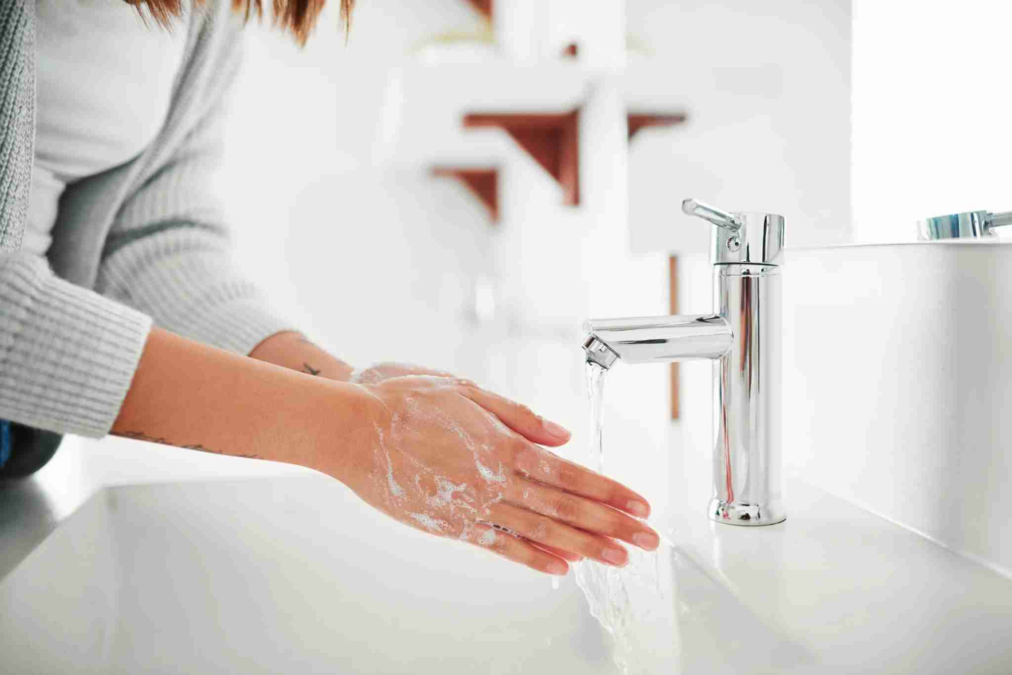 The CDC reccomends washing your hands often with soap and water for at least 20 seconds. (Photo by Jay Yuno/Getty Images)