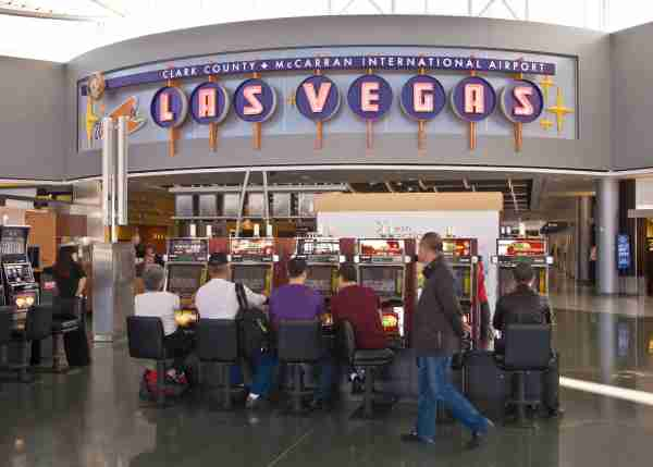 LAS VEGAS, NV - NOVEMBER 20: United Airlines passengers at McCarran International Airport (LAS) now get to use Terminal 3 for arrivals and departures on November 20, 2012 in Las Vegas, Nevada. Tourism in America