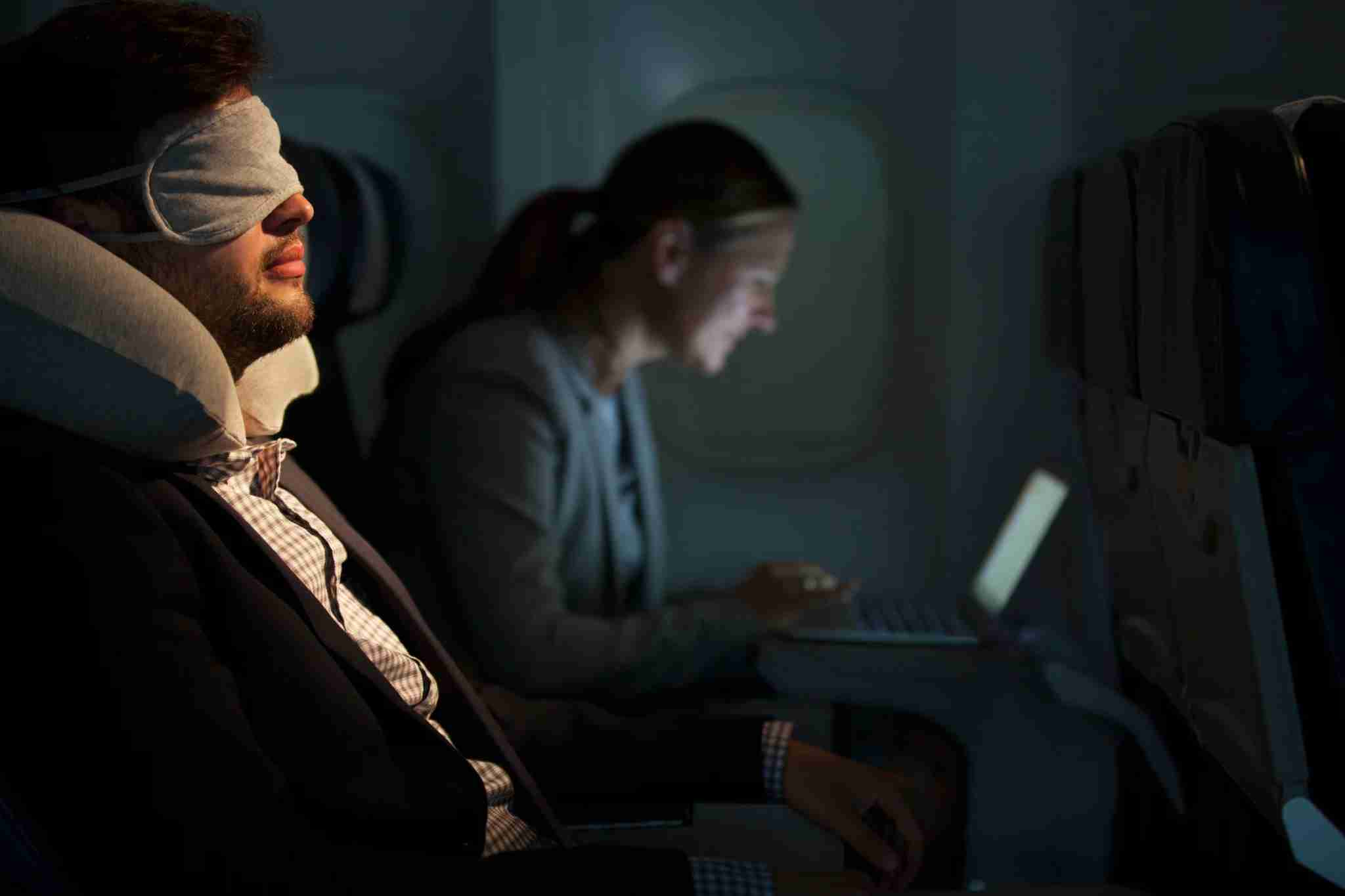 Are you one of those lucky people who can fall asleep easily on a plane? (Photo by Compassionate Eye Foundation/Steve Smith/Getty Images)