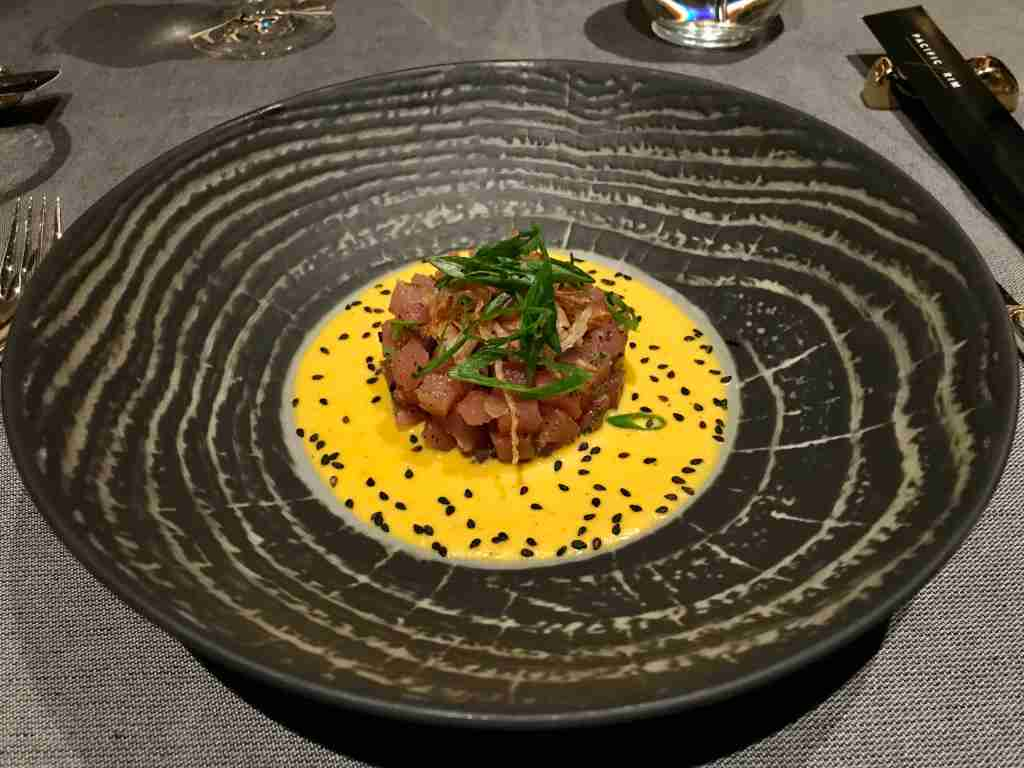 The tuna tartar at the Pacific Rim restaurant on Seven Seas Splendor is as tasty as it is pleasing to the eyes. (Photo by Gene Sloan/The Points Guy)