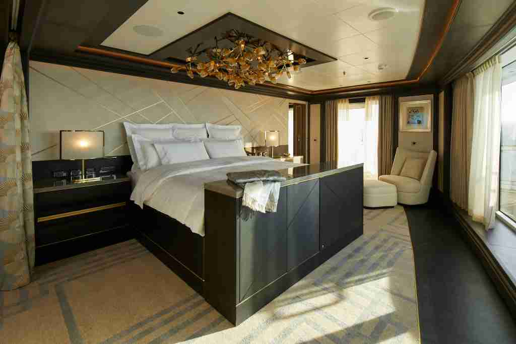 The hand-made mattress in the Regent Suite on Seven Seas Splendor cost more than $250,000. (Photo courtesy of Regent Seven Seas Splendor)