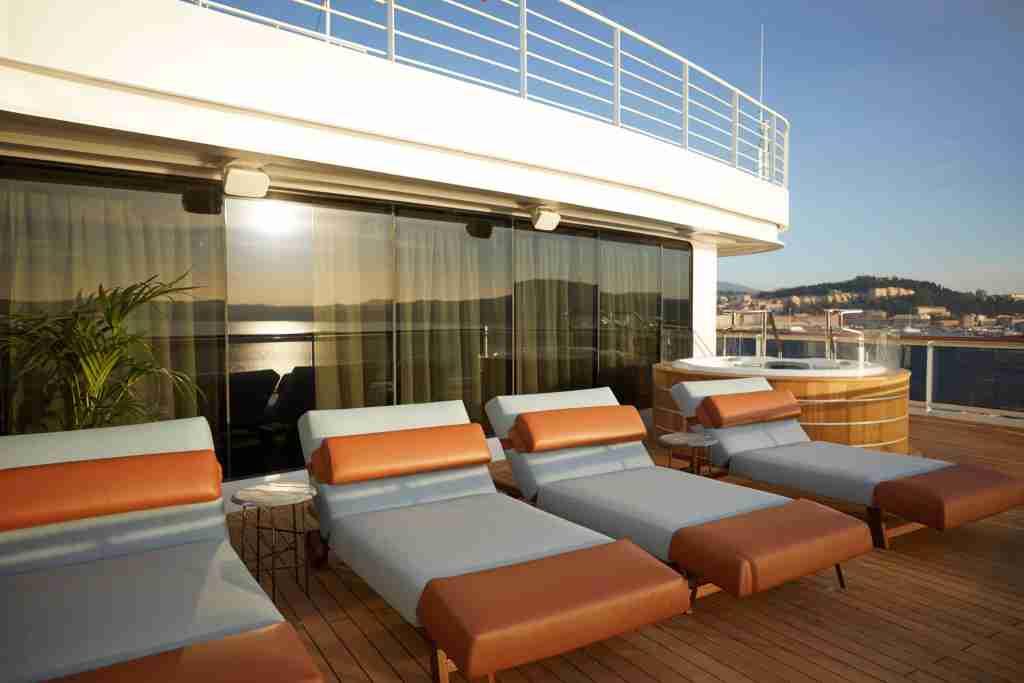 The Regent Suite on Seven Seas Splendor has more than 1,000 square feet of balcony space. (Photo courtesy of Regent Seven Seas Cruises)