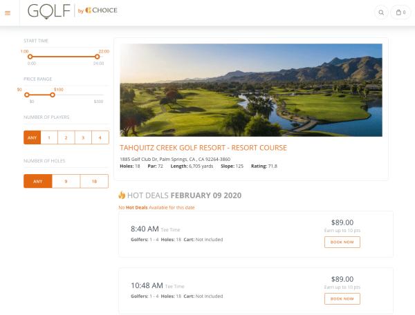 Screenshot courtesy of Golf by Choice