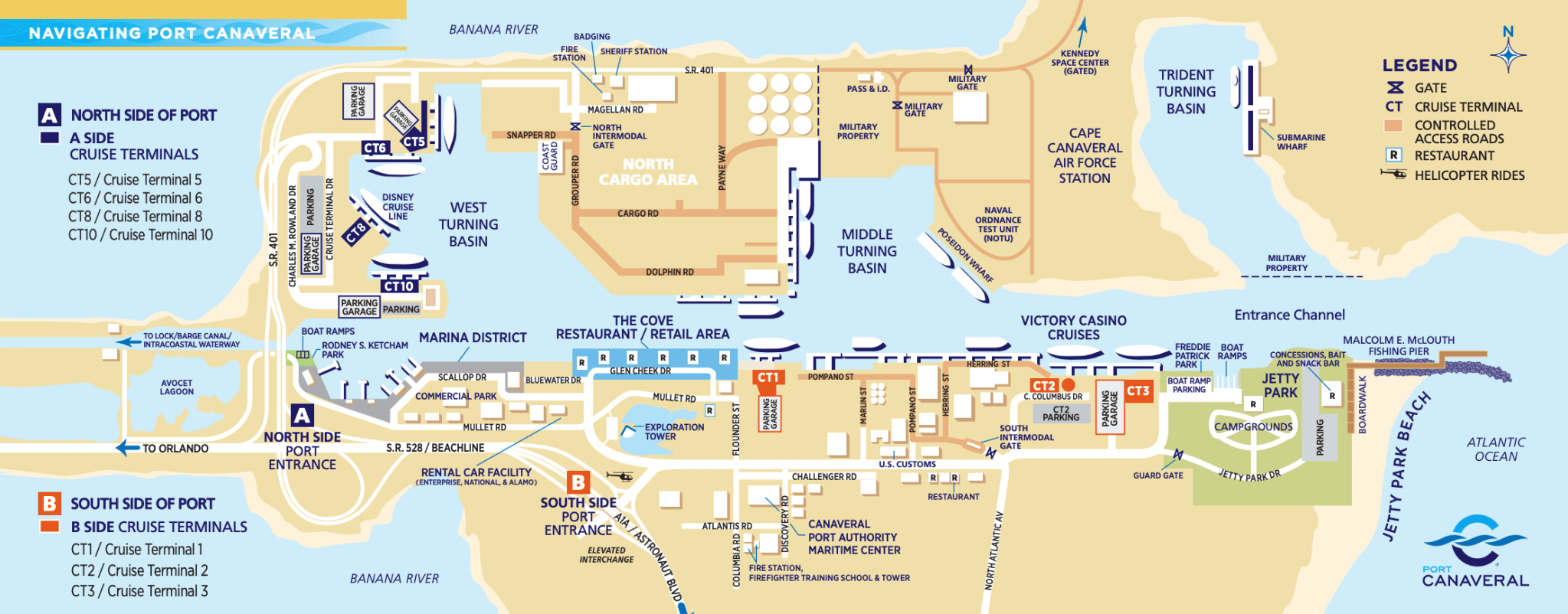 Map courtesy of Port Canaveral