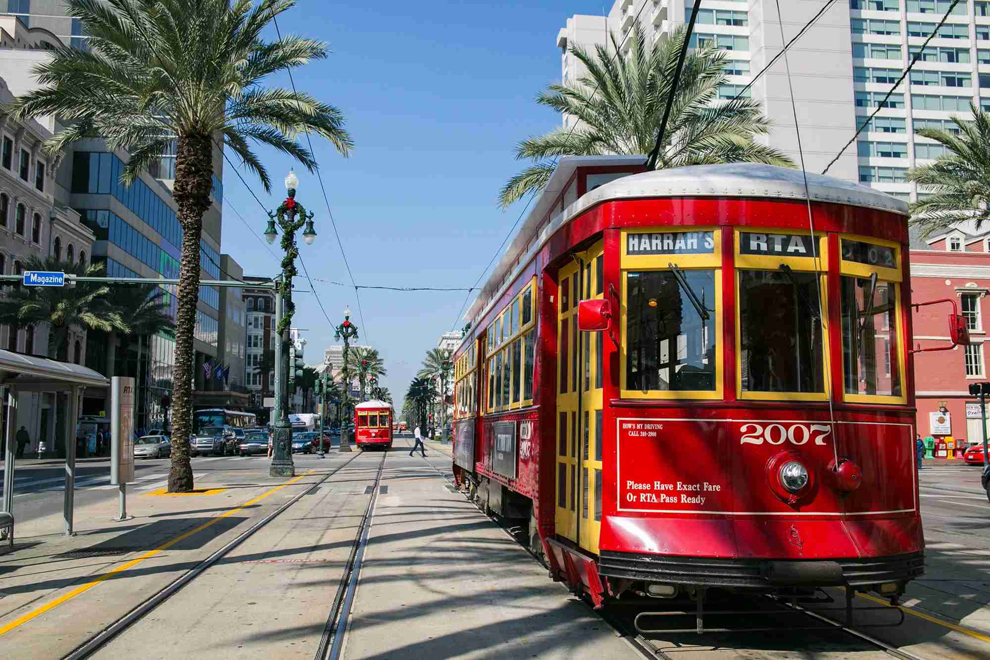 Take a ride on an authentic New Orleans streetcar. (Photo courtesy of Visit New Orleans)